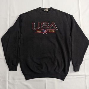 Vintage USA Embroidered Crewneck